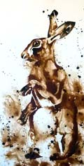"BAD HARE DAY - ink on Arches paper  image size 20"" x 32"""